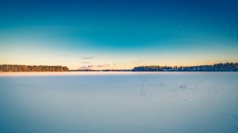Lake Saimaa winter view